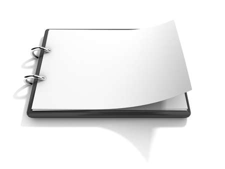 Blank clipboard isolated on a white background photo