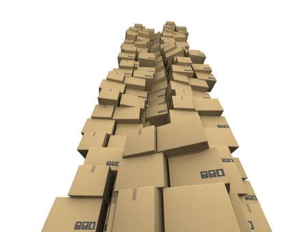 cardboard boxes Stock Photo - 17268591