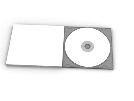 writable: Blank DVD CD case and disc
