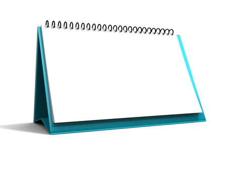 almanac: Blank calendar isolated on white