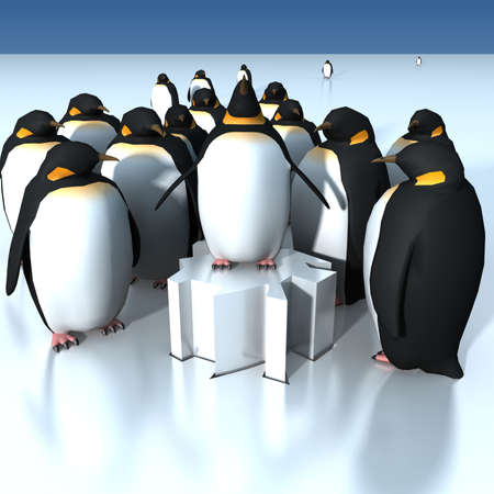 Fun penguins  photo