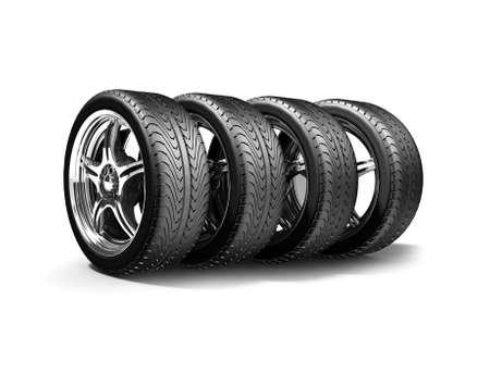 Wheels isoliert auf weiß. 3d darstellung. Standard-Bild - 17270241