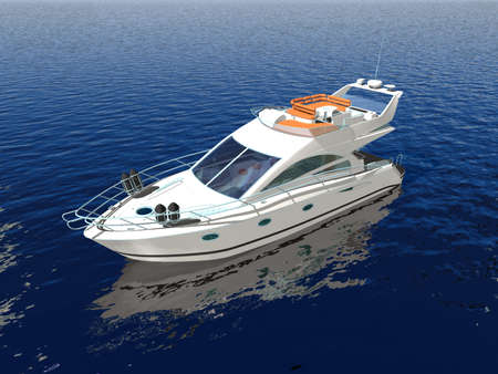 dive trip: Luxury boat in the middle of the ocean