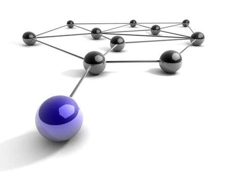 Metapher der Kommunikation. 3d darstellung. Concept. Standard-Bild - 20698850