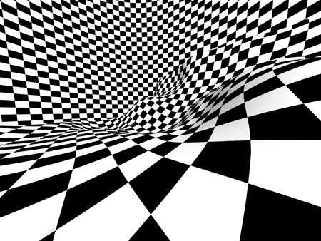 Checkered texture 3d background Stock Photo