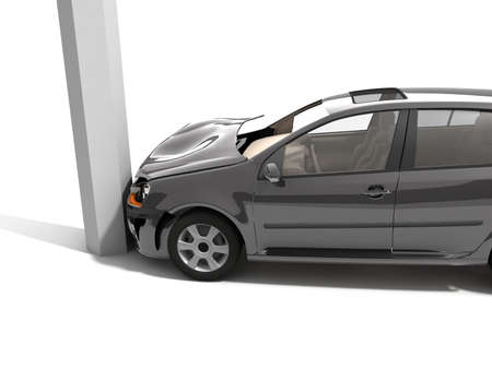 total loss: Car accident  Stock Photo
