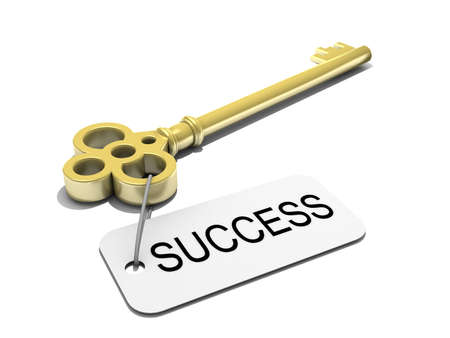 prosper: a key with word success , business concept