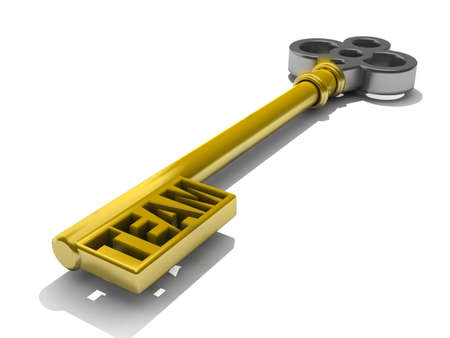 prosper: a keys with words team business concept