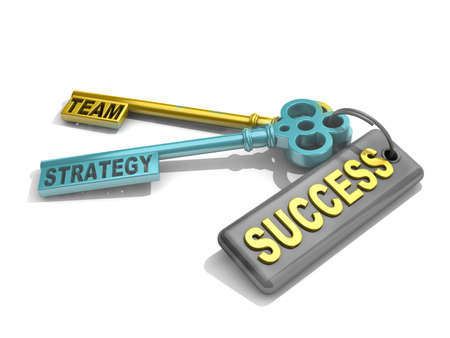 prosper: a keys with words team, strategy and success , business concept
