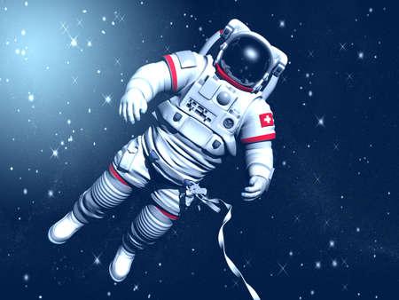 星に対して、宇宙空間での宇宙飛行士