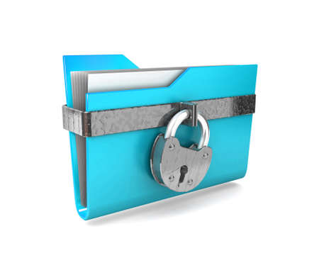 Data security. 3d illustration of folders closed isolated on white.  illustration