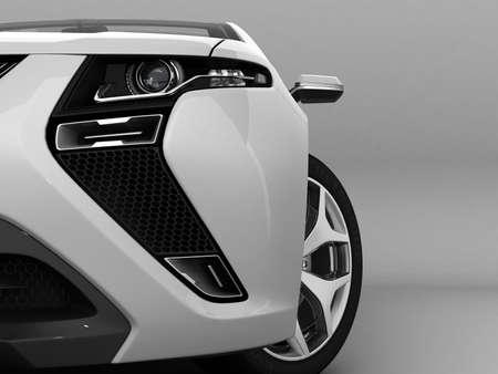 Weiß sport auto Standard-Bild - 24248209