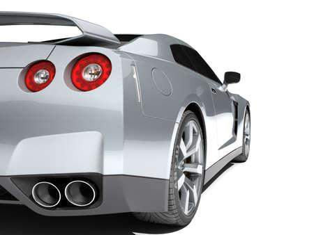 dream car: Coche deportivo aislado en un fondo blanco Foto de archivo