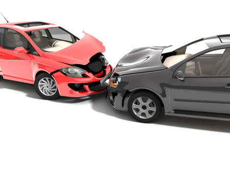 damages: Car accident  Stock Photo