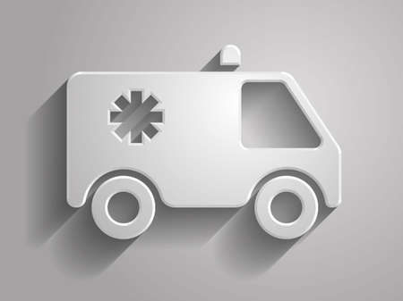 3d Vector illustration of ambulance icon Vector