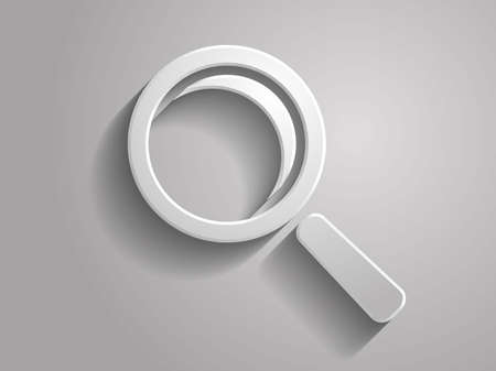 3d Vector illustration of loupe icon Vector