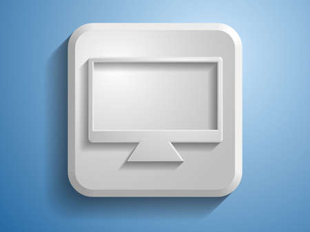 3d Vector illustration of a monitor icon Stock Vector - 24720325