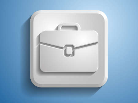 3d Vector illustration of briefcase icon  Vector