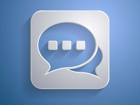 3d Vector illustration of communication icon