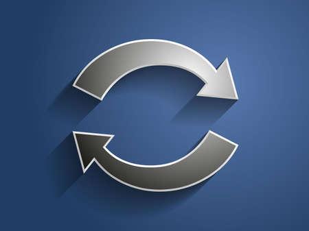 circulation: 3d Vector illustration of circulation icon
