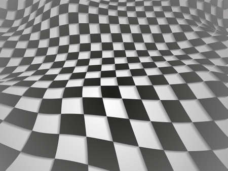 Checkered texture 3d background Vector