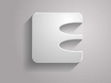 Icon of Letter. The font is developed by me Vector