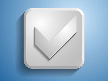 3d Vector illustration of check box icon