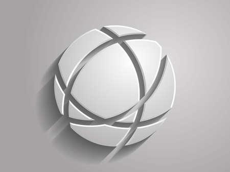 3d Vector illustration of globe icon
