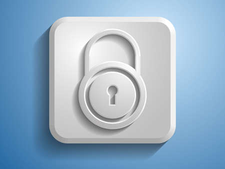 3d Vector illustration of a lock icon