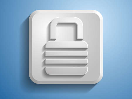 3d Vector illustration of a lock icon Vector