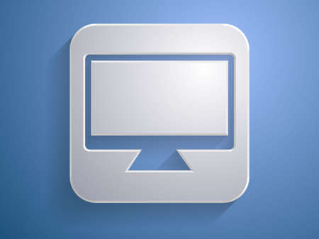 3d Vector illustration of a monitor icon  Stock Vector - 24720508