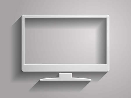 3d Vector illustration of monitor icon