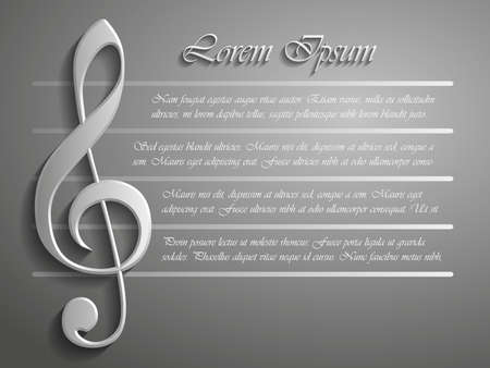 minims: The Treble clef 3d vector background