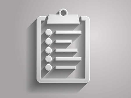 3d Vector illustration of clipboard icon Vector
