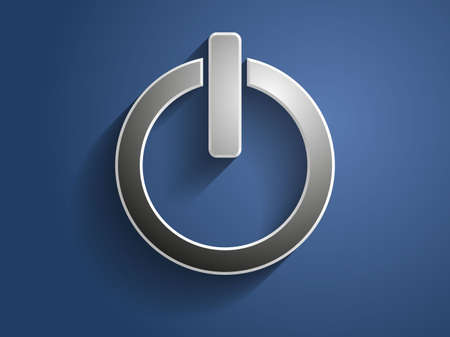 3d Vector illustration of a power icon Ilustração