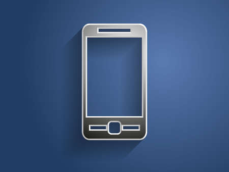 3d Vector illustration of smartphone icon Stock Vector - 24720565
