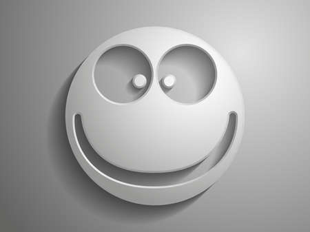 Smile 3d vector icon Vector