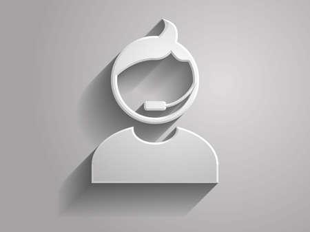 3D-Vektor-Illustration der Support-Symbol Standard-Bild - 24720583