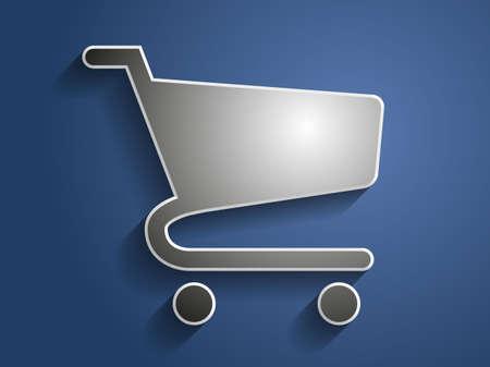 shopping chart: 3d Vector illustration of shopping chart icon  Illustration