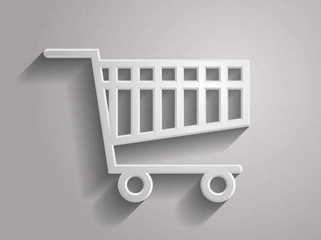 commercials: 3d Vector illustration of shoppind cart icon Illustration