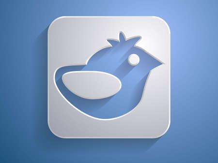 tweet icon: 3d ilustraci�n vectorial de un icono de Twitter