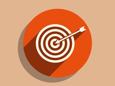 bullseye: Flat long shadow icon of aim