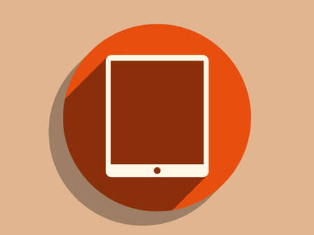 touchpad: Flat long shadow icon of touchpad