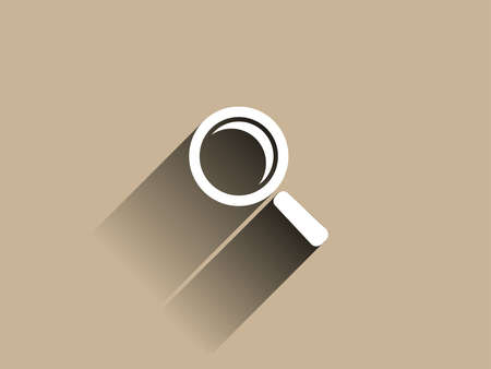 Flat long shadow icon of loupe Vector