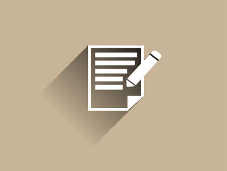 Flat long shadow icon of notes Vector