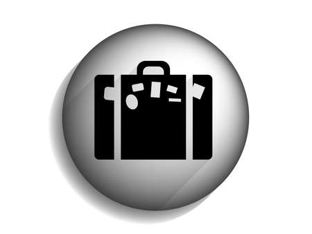 Flat long shadow icon of bag  Vector