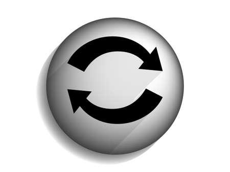 Flat long shadow icon of cyclic
