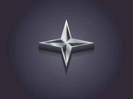 3d Vector illustration of compass icon  Vector