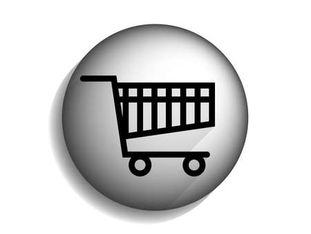 shopping chart: Flat long shadow icon of shopping chart