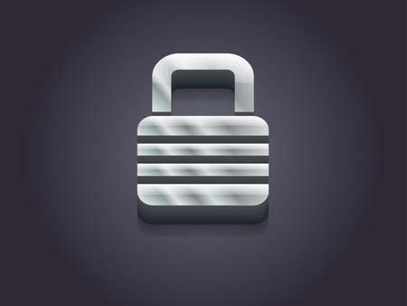 3d Vector illustration of lock icon Vector
